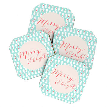 Allyson Johnson Merry And Bright Coaster Set