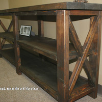 Handcrafted Farmhouse Console / Sofa Table -Solid Wood -You Choose Your Size