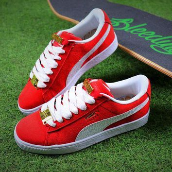 LMFUX5 Puma Suede Classic BBOY Fabulous 50th Red White Shoes