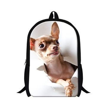 Dispalang cute animal pet dog 3D pattern backpacks for teen girls women's stylish day back pack lightweight book bags for kids