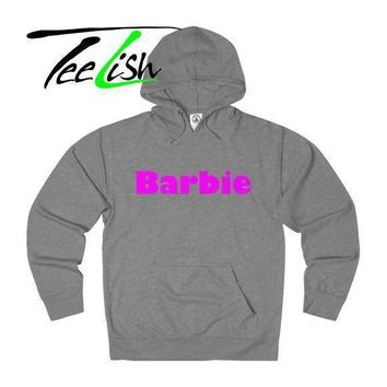 Unisex French Terry womens barbie hoodie