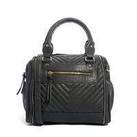 New Look Quilted Zipped Bowling Bag