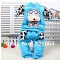 New 2013 Spotted Dog baby clothing sets, Boy & Girl tracksuits children autumn-winter sport suits infant costumes outfits - Default