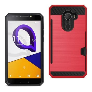 REIKO ALCATEL WALTERS SLIM ARMOR HYBRID CASE WITH CARD HOLDER IN RED