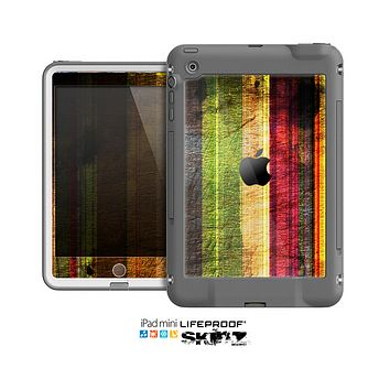 The Grungy Color Stripes Skin for the Apple iPad Mini LifeProof Case
