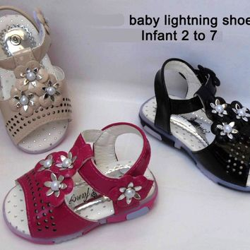 Toddlers/ Infant Girls Sandals Flashing LED Luminous Lights