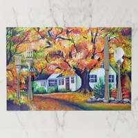 North American Fall Landscape Placemat