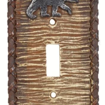 Cowgirl Kim Black Bear Single Switch Plate Cover