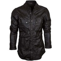 Caden Mens Leather Shirt