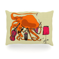 "Marianna Tankelevich ""Playful Octopus"" Oblong Pillow"