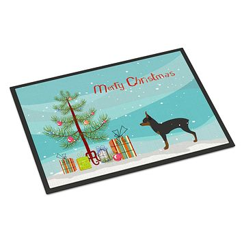 Toy Fox Terrier Merry Christmas Tree Indoor or Outdoor Mat 24x36 BB2905JMAT