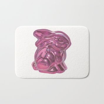 Pink Bunny Bath Mat by drawingsbylam