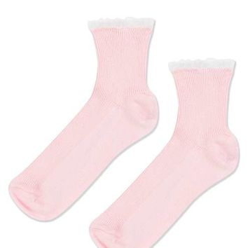 Mini Frill Ribbed Ankle Sock - New In