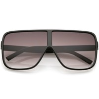 Retro Modern Oversize Square Flat Top Sunglasses C476