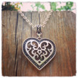 Handmade Tibetan Silver Heart Necklace