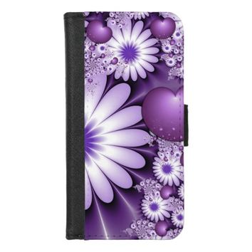 Falling in Love Abstract Flowers & Hearts Fractal iPhone 8/7 Wallet Case