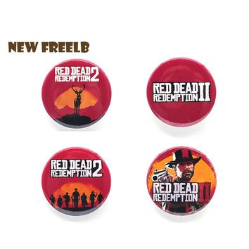 New&Hot Game Red Dead Redemption 2 Brooches RDR2 Pin  Badge For friends Great Gift Children Students School Bag Backpack 58mm