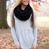 The Perfect Long-Sleeved Tunic - Grey