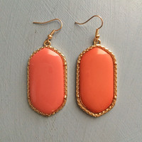 Kendra Scott Inspired Large Earrings: Coral
