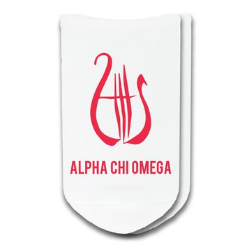 Alpha Chi Omega - Sorority Icon No-Show Socks