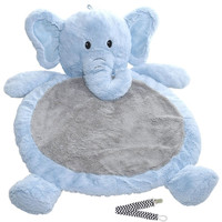 Mary Meyer Blue Elephant Best Ever Baby Mat with Pacifier Clip