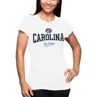 North Carolina Tar Heels (UNC) Ladies Tissue Slim Fit T-Shirt - White