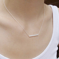 Womens 925 Silver Simple Pendant Necklace + Gift Box Jewelry-71