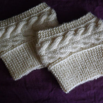 Knitted Boot Cuffs - Leg Warmers - Boot Toppers
