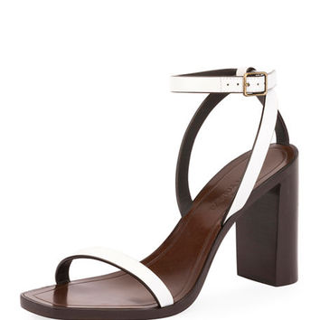 Saint Laurent Loulou Leather City Sandal