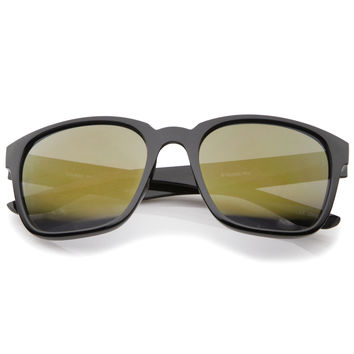 Men's Oversize Action Sports Flash Lens Aviator Sunglasses A395