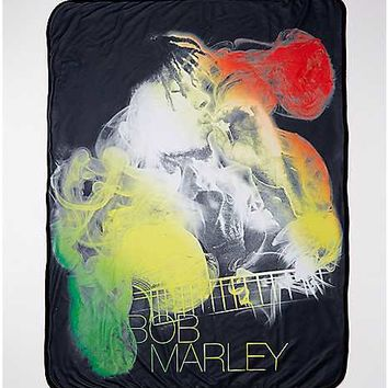Bob Marley Smoking Fleece Blanket - Spencer's