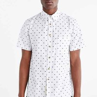 Native Youth Target Woven Button-Down Shirt- White