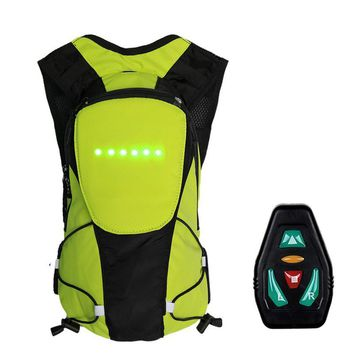 2018 Brand New Wireless Remote Control Warning LED Light Turn Signal Light Backpack Safety Bicycle Warning Guiding Riding Bag