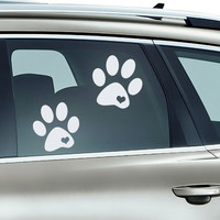 Car Window Decal Dog  Paws Dogs Decals Vinyl Sticker fits for Hood,  Laptop  Macbook any Gadget   MM230