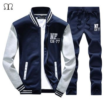 Luxury Tracksuits Men's hot sale Suit Brand-Clothing Men Casual Jacket + Pant 2pcs Sets Sportswear Tracksuits Sets sportsuits