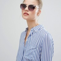 New Look Brow Bar Tinted Sunglasses at asos.com