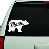 Dabbledown Decals Mama Bear White Version Car Window Windshield Lettering Decal Sticker Decals Stickers Girl JDM Drift