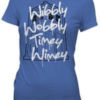 Ripple Junction Dr. Who Wibbly Wobbly Timey Wimey Women T-shirt
