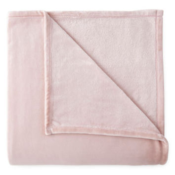jcp home™ Velvet Plush Solid Blanket