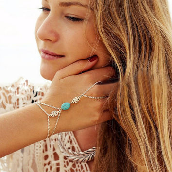 Turquoise Finger Chain Bracelet [Free Giveaway]