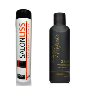 SALONLISS + CHAMPÚ DE LIMPIEZA PROFUNDA MARROQUÍ KIT DE QUERATINA 340ml/11fl.oz. 250ml/8,4fl.oz.