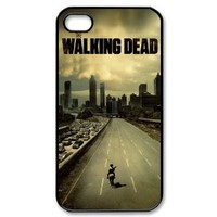 iPhone 4/4s cover case with hot movie the walking dead portrait image