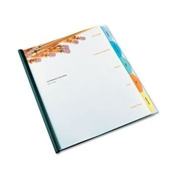 GBC Products - GBC - Polypropylene View-Tab Report Cover, Binding Bar, Letter, Holds 40 Pages, Clear - Sold As 1 Each - Made-to-fit dividers organize report topics with easy-to-view translucent tabs. - Clear covers provide a full view of title page. - Slid
