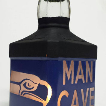 Man Cave Seattle Seahawks Candle Holder/Hurricane!