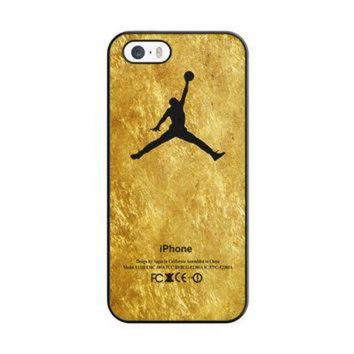 DCKL9 Michael Jordan Golden Gold Pattern iPhone 5|5S Case