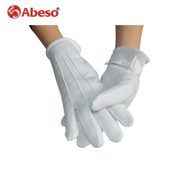 Abeso Gloves Mitten Women Autumn Winter Outdoor Warm Inverted Cashmere Cotton protect Glove Solid Color Touch Gloves