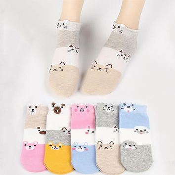 Cute Cat Animal Ankle Socks Funny Crazy Cool Novelty Cute Fun Funky Colorful