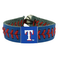 MLB Texas Rangers Team Color Baseball Bracelet