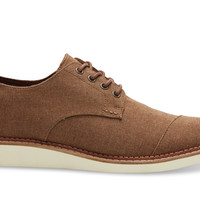 TOMS Brown Chambray Men's Brogues Brown