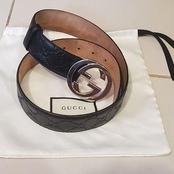Kalete Authentic Original Men's Gucci Belt GG 80cm - Pre owned, not used, unwanted gift